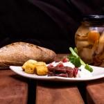 anchoas con jamon y crema de queso